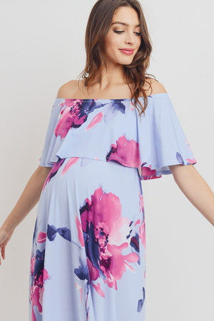 La Belle Fleur - Off Shoulder Maternity Dress