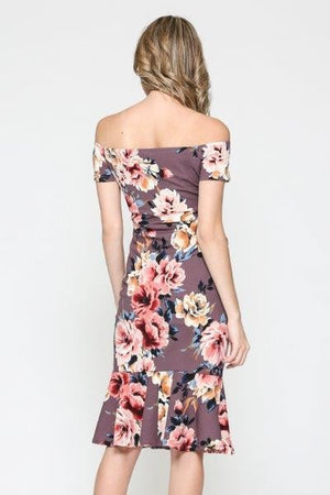The Mermaid - Floral Bodycon Dress