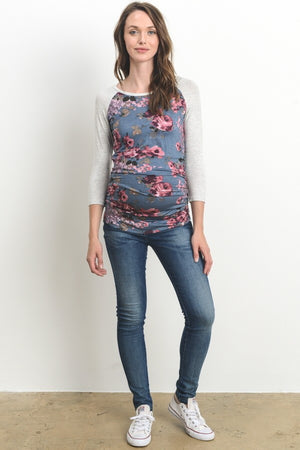 The Classic Conifer - Denim Floral