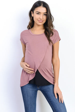 The Tulip Top - Rose & Black
