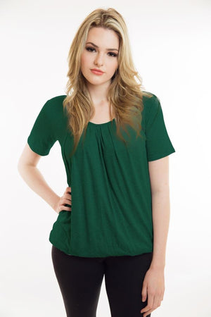 Nurture-Elle Pleated Nursing & Maternity Short Sleeve Top