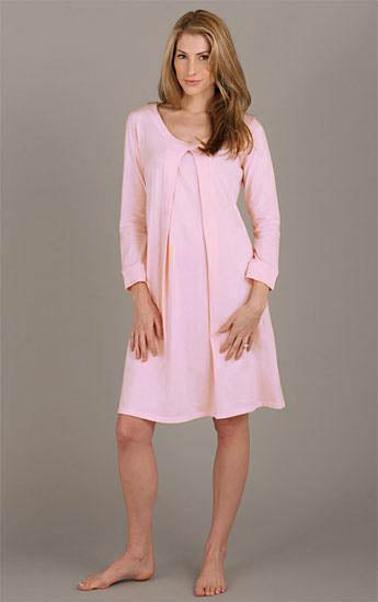 d20ffb4793e72 Nursing & Maternity Nightgown - Light Pink – Nest and Sprout Maternity