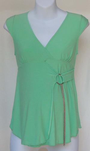 CoCo Nut Mint Top with Silver Ring