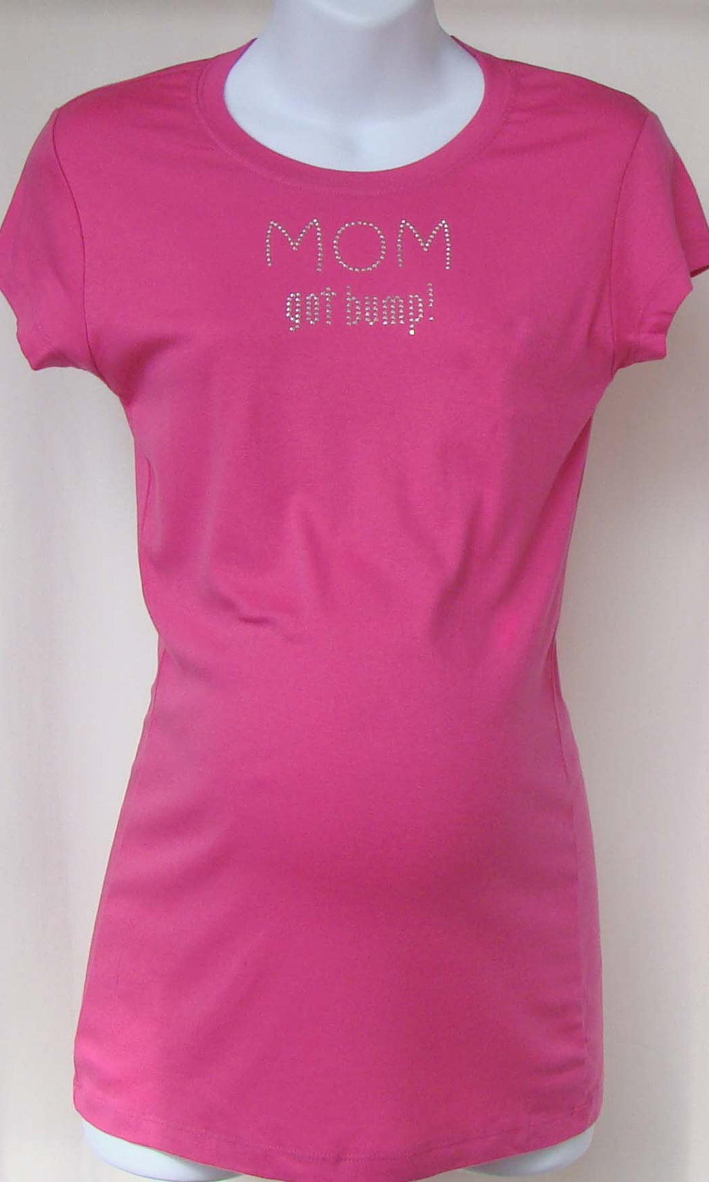 Mom Got Bump' Pink Short Sleeve Shirt