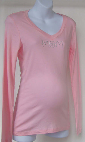 Beyond Maternity 'Mom 2B' Pink Long Sleeve Shirt