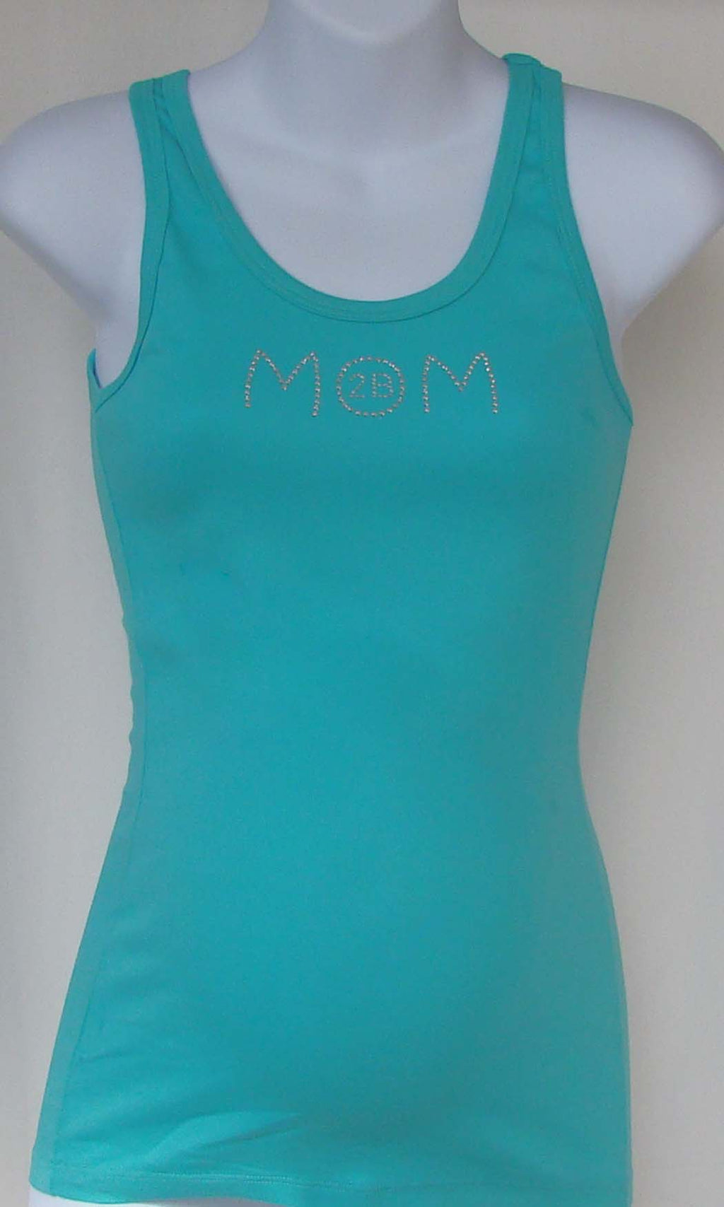 Beyond Maternity 'Mom 2B' Turquoise Tank