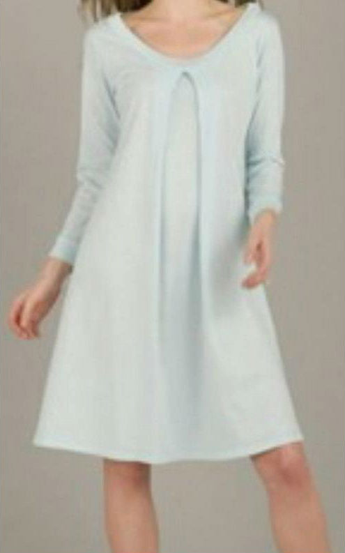 Nursing & Maternity Nightgown - Light Blue