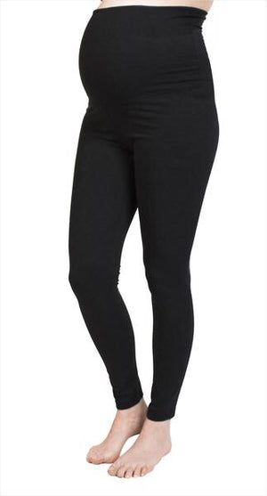 Bedondine Black Leggings Full Belly Panel