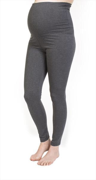 Bedondine Grey Leggings Full Belly Panel