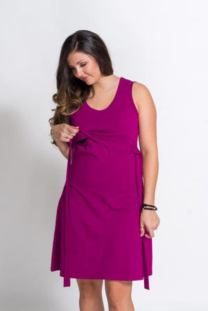 Momzelle 'Laura' Nursing Dress in Orchid