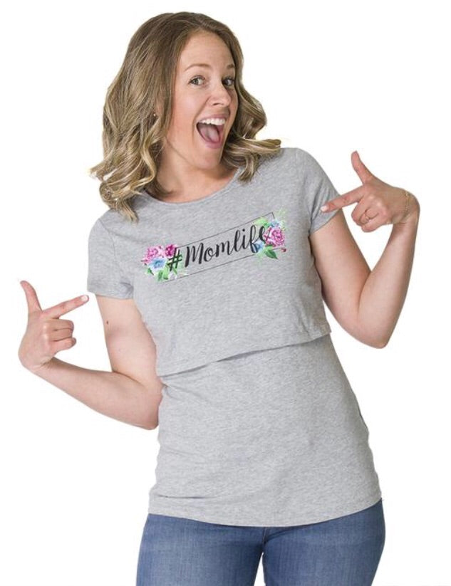 6ff006de5d1 Momzelle 'Momlife' T-Shirt – Nest and Sprout Maternity
