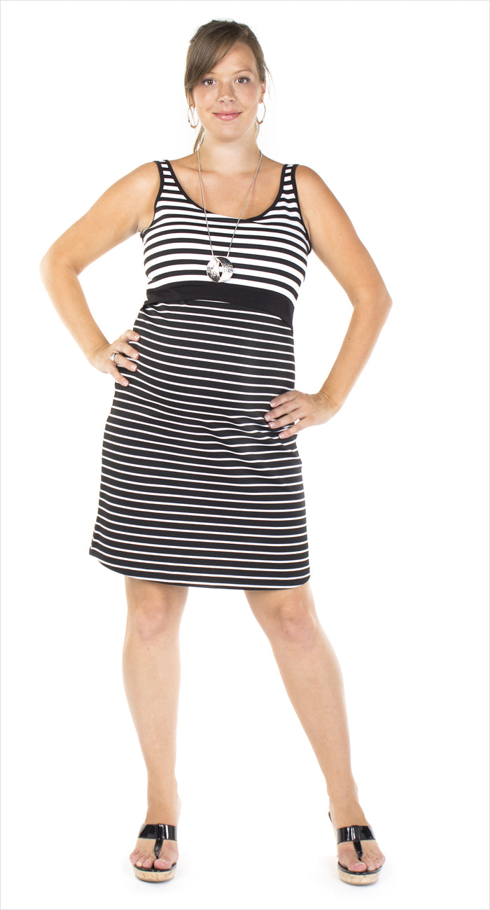 Bedondine Striped Nursing Dress