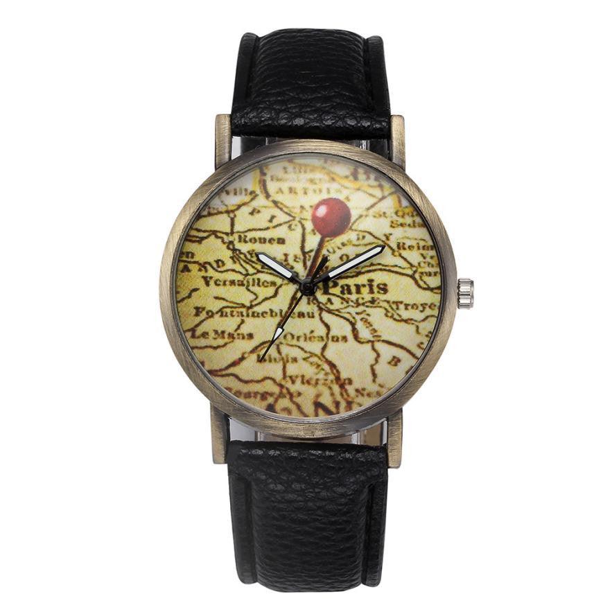 Map-of-Paris Wrist Watch - Aesthetic Maps