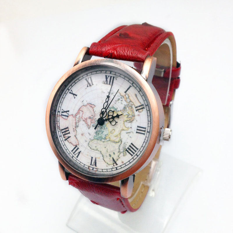 Retro Roman Style Wrist Watch - Aesthetic Maps