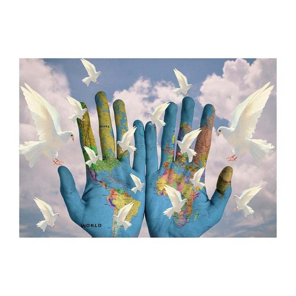 The World is in Our Hands Diamond Painting Pattern