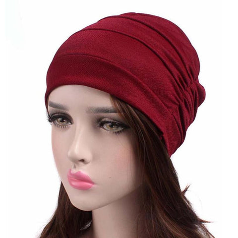 61d0c998b38 Winter Hats For Women Fashion Cancer Chemo Hat Beanie Scarf Turban Head  Wrap Cap Casual Solid