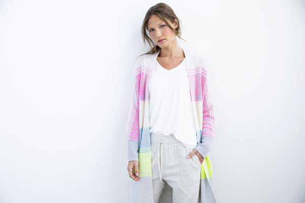 Plaited Stripe Cardigan