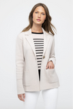 DBL Knit Notch Collar Cardigan