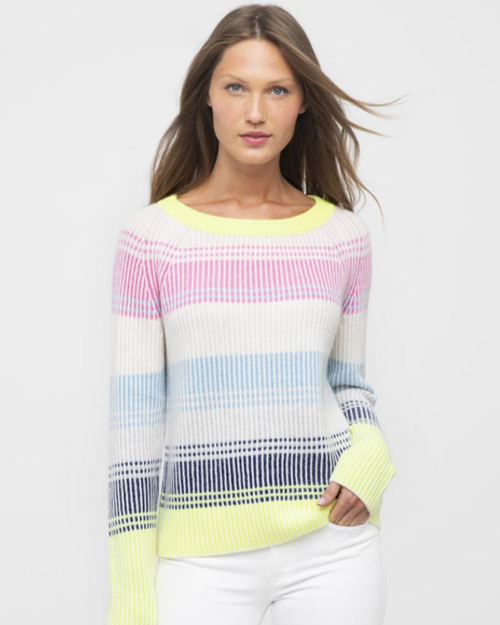Plaited Stripe Boatneck