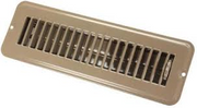 TAN DAMPERED 2X10 METAL FLOOR REGISTER