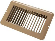 TAN 4X8 METAL UNDAMPERED FLOOR REGISTER