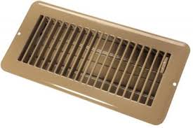 TAN 4X10 DAMPERED METAL FLOOR REGISTER