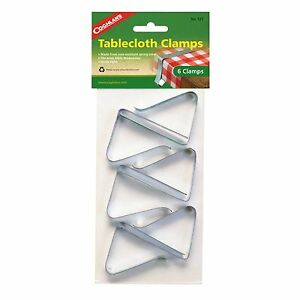 HEAVY DUTY TABLECLOTH CLAMPS 6PK