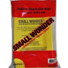 SMALL WONDER VACUUM BAGS For Models #5100 & #6460 3PK