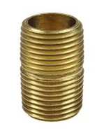 PROPANE CLOSE NIPPLE BRASS 1/4""