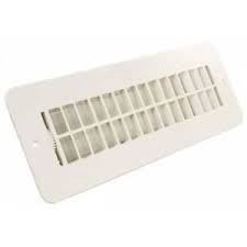 WHITE DAMPERED 2X10 PLASTIC FLOOR REGISTER