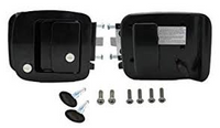 BAUER ENTRANCE LOCK WITH KEYS BLACK 013-257