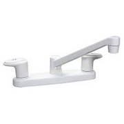 "WHITE 8"" KITCHEN FAUCET"