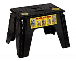 STEP STOOL, E-Z FOLDZ 12 BLACK 103-6BK