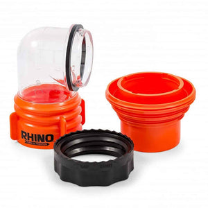 RHINO FLEX SWIVEL ELBOW FITTING 4 IN 1 ADAPTER W/ LOCKING RING