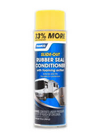 SLIDE-OUT RUBBER SEAL CONDITIONER with foaming action