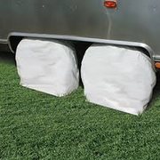 "2 PK RV WHEEL COVERS 24"" - 26"" WHITE"
