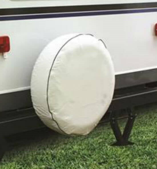 "SPARE TIRE COVER B/32"" ARTIC WHITE"