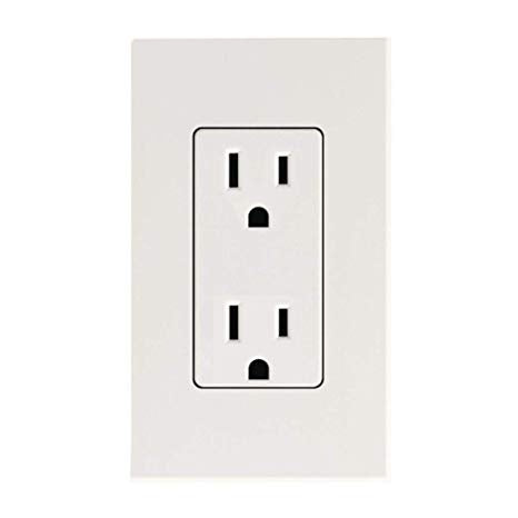 WHITE OUTLET WITH COVER