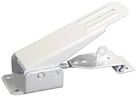 WHITE FOLD DOWN CAMPER LATCH & CATCH