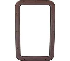RV ENTRANCE DOOR EXTERIOR WINDOW FRAME BROWN