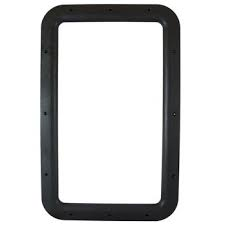 RV ENTRANCE DOOR INTERIOR WINDOW FRAME BLACK
