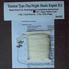 WHITE TENSION TYPE DAY/NIGHT SHADE REPAIR KIT
