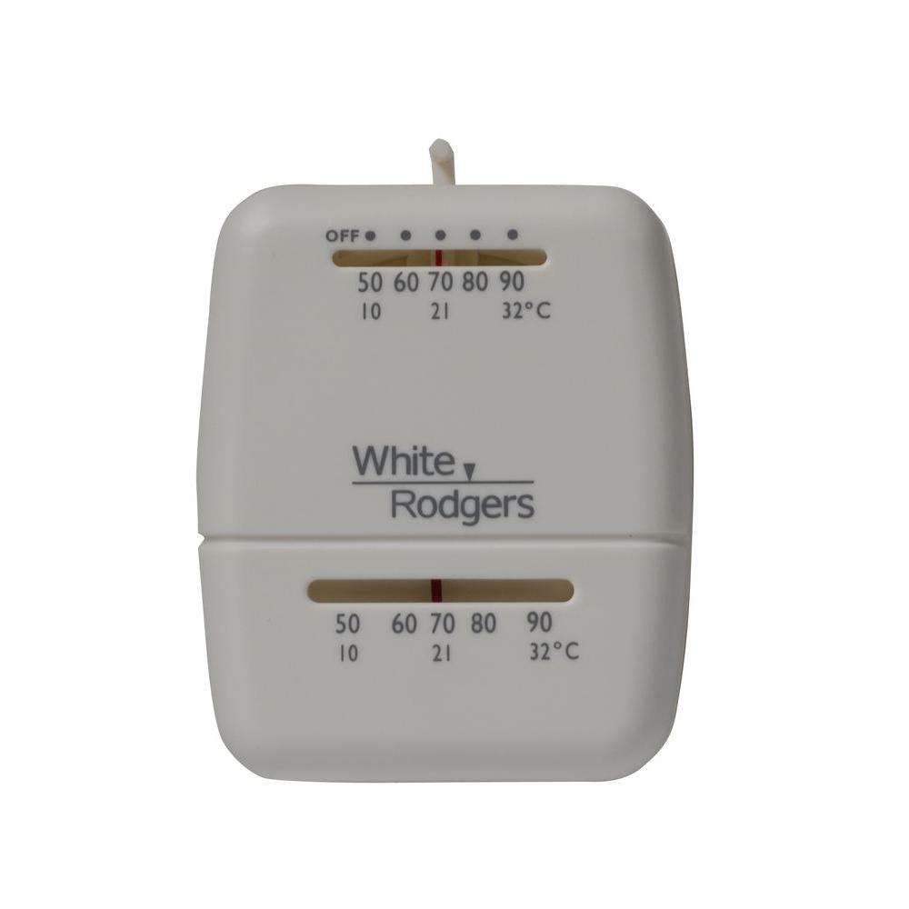 WHITE ROGERS WALL THERMOSTAT HEAT ONLY