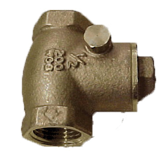 AQUA HOT BRASS CHECK VALVE 1/2 IN X 1/2 IN