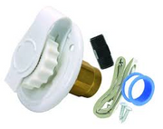 FLUSH MOUNT WATER INLET WHITE
