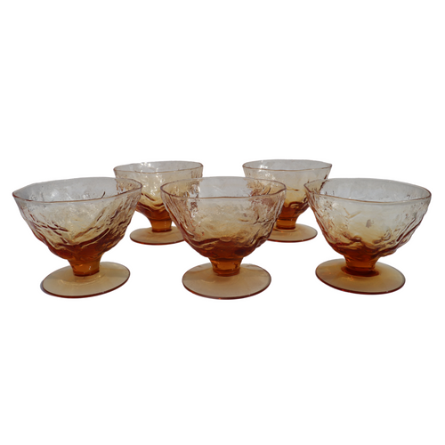 Light Amber Champagne Sherbet Glasses: Set of 8