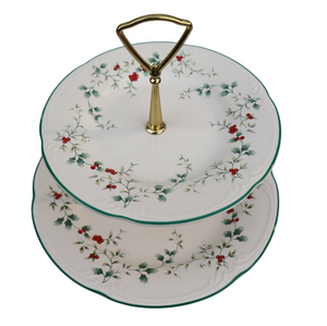 Christmas Winterberry Tiered Serving Platter