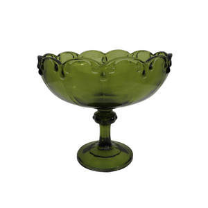 Indiana Glass Large Green Teardrop Compote
