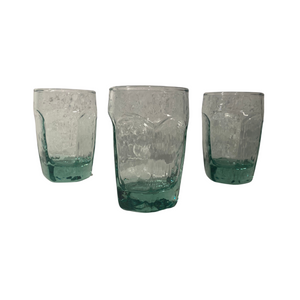 Cordial Mini Green Glasses: Set of 5