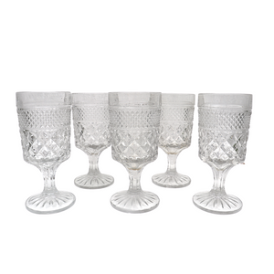 Clear Wexford Water Glasses: Set of 6